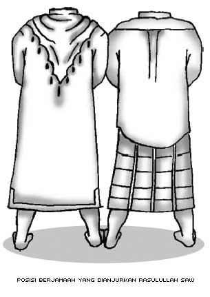 Posisi Sholat Berjamaah yang Dianjurkan Rasulullah SAW