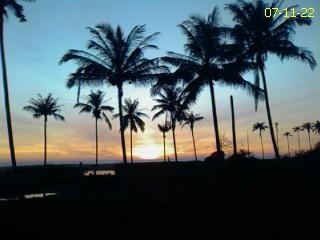 Indahnya Sunset di Pantai Barat NAD