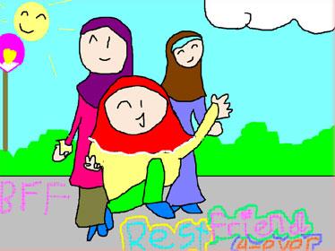 ilustrasi my best friend ingga untuk najah