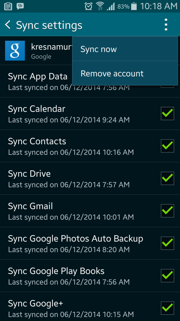 Sync with Mobile